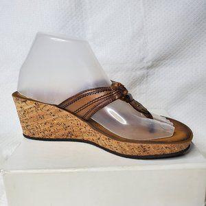 Clarks Mimmey Paige Cork Wedge Sandals